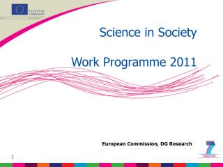 Science in Society Work Programme 2011