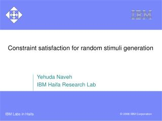 Constraint satisfaction for random stimuli generation