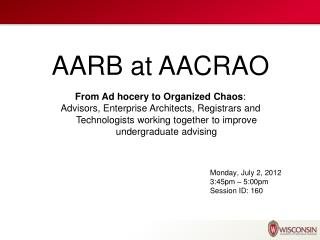 AARB at AACRAO
