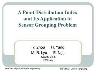 A Point-Distribution Index  and Its Application to  Sensor Grouping Problem
