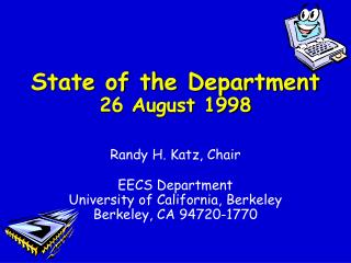 State of the Department 26 August 1998
