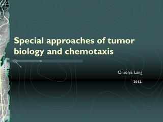 Special approaches of tumor biology and chemotaxis