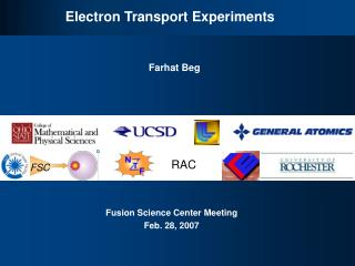 Electron Transport Experiments