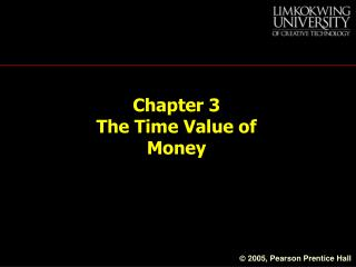 Chapter 3  The Time Value of Money