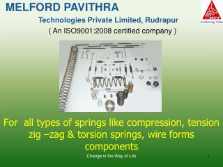 MELFORD PAVITHRA  Technologies Private Limited, Rudrapur ( An ISO9001:2008 certified company )