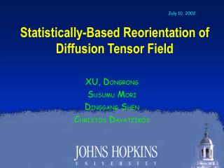 Statistically-Based Reorientation of  Diffusion Tensor Field