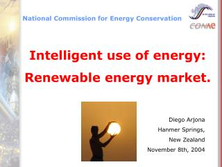 Intelligent use of energy: Renewable energy market.