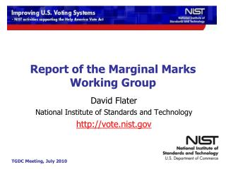 Report of the Marginal Marks Working Group