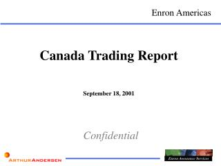 Canada Trading Report September 18, 2001