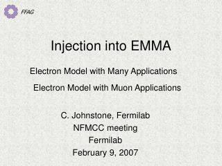 Injection into EMMA