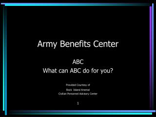 Army Benefits Center