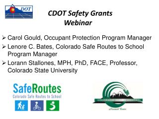 CDOT Safety Grants  		Webinar