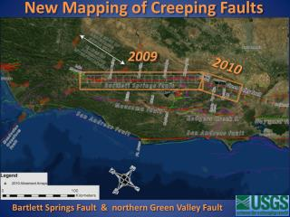 New Mapping of Creeping Faults