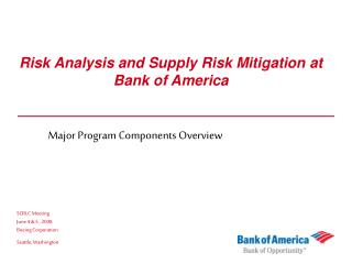 Risk Analysis and Supply Risk Mitigation at Bank of America