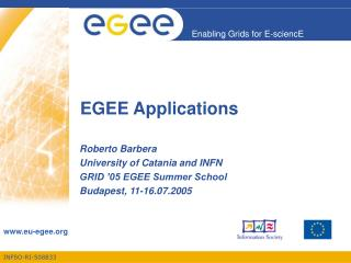EGEE Applications