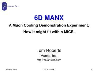 6D MANX A Muon Cooling Demonstration Experiment; How it might fit within MICE.