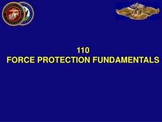 110  FORCE PROTECTION FUNDAMENTALS