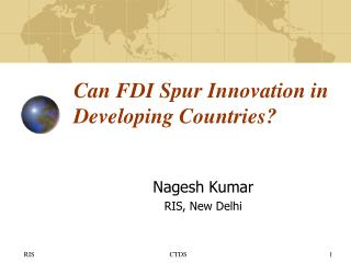 Can FDI Spur Innovation in Developing Countries?