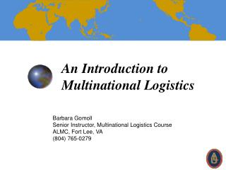 An Introduction to Multinational Logistics