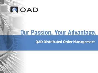 QAD Distributed Order Management
