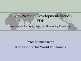 How to Promote Development-friendly FDI:    An Agenda for Policymakers in Developing Countries