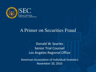 A Primer on Securities Fraud