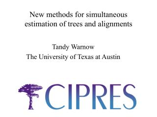New methods for simultaneous estimation of trees and alignments