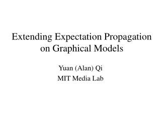 Extending Expectation Propagation on Graphical Models