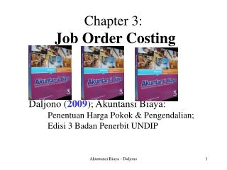 Chapter 3: Job Order Costing