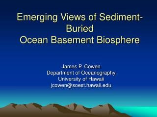 Emerging Views of Sediment-Buried  Ocean Basement Biosphere