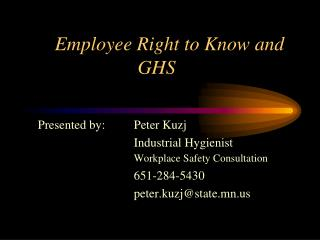Employee Right to Know and GHS