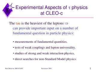 Experimental Aspects of  t  physics at CLEO-c