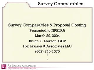 Survey Comparables