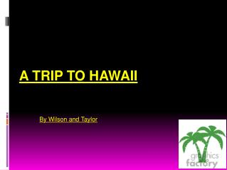 A Trip To Hawaii