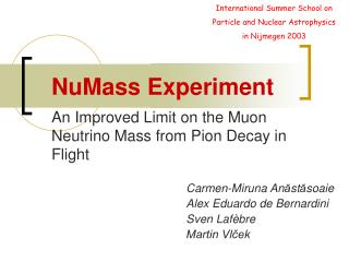 An Improved Limit on the Muon Neutrino Mass from Pion Decay in Flight