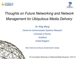 Thoughts on Future Networking and Network Management for Ubiquitous Media Delivery