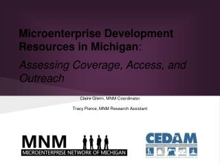 Microenterprise Development Resources in Michigan :  Assessing Coverage, Access, and Outreach