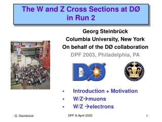 The W and Z Cross Sections at D Ø in Run 2
