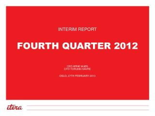 Fourth  Quarter 2012