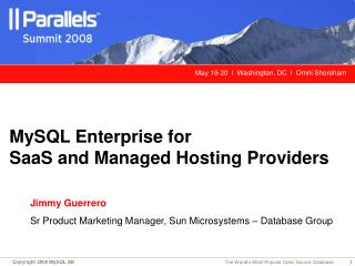 MySQL Enterprise for SaaS and Managed Hosting Providers