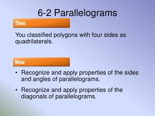 6-2 Parallelograms