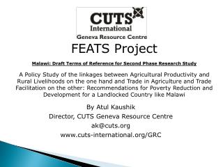 FEATS Project Malawi: Draft Terms of Reference for Second Phase Research Study