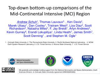 Top-down bottom-up comparisons of the Mid-Continental Intensive (MCI) Region