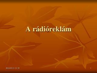 A rádióreklám
