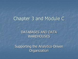 Chapter 3 and Module C