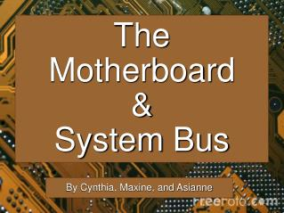 The Motherboard & System Bus