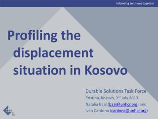Profiling the displacement situation in Kosovo