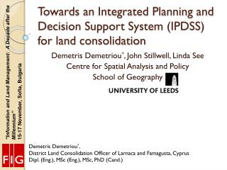 Towards an Integrated Planning and Decision Support System (IPDSS) for land consolidation