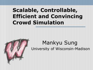 Scalable, Controllable, Efficient and Convincing Crowd Simulation