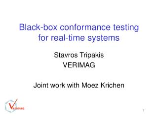 Black-box conformance testing for real-time systems